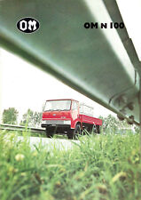 Brochure Dépliant Camion Truck OM N 100 1975 French Text