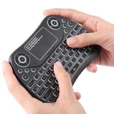 Mini Smart Colorful Rechargeable Wireless Remote Keyboard Touch Mouse Pad 2.4GHz