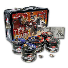"2016 Fiji 6-Coin Proof Silver ""Captain America: Civil War"" Set - SKU #97884"