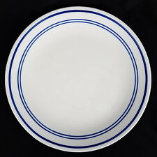 Corelle CLASSIC CAFE BLUE Dinner Plate, Three Blue Bands