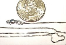 14kt White Gold 20 inch .8MM BOX Chain with Lobster Lock..  100% Guaranteed!
