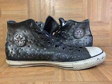 RARE🔥 Converse John Varvatos Ostrich Metal Studs Metallic Leather Sneaker Sz 12