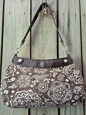 THIRTY-ONE BROWN SUITE SKIRT PURSE BROWN WOODBLOCK FLORAL SUITE SKIRT & STRAP