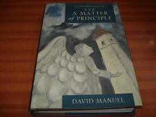 A Matter of Principle: A Faith Abbey Mystery by David Manuel (Hardback 2003) 1ST