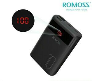 ROMOSS Power Bank 10000mAh 2USB Chargeur Batterie Externe 2.1A Pour Téléphone