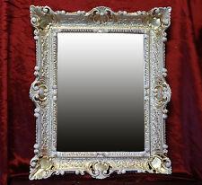 Espejo de pared + emplazamiento CONSOLA COMO Juego antigua Barroco ORO BLANCO
