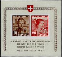 Svizzera - 1941 - Pro Juventute -  BF nuovo gomma integra MNH - Unificato n.6