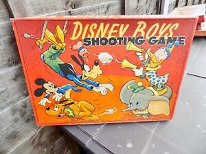 Chad Valley Disney Boys Mickey Mouse Shooting Game Toy in Box c1940-50s