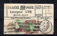 EDWARD VII 2d + 4d USED ON PARCEL POST LABEL
