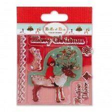 'Belle Y Boo' Navidad son indeer 'transparente conjunto de sello * Gratis Reino Unido P + P *