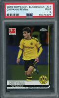 Giovanni Reyna 2019 Topps Chrome Bundesliga Soccer Rookie Card #37 PSA 9 MINT