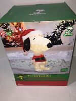 "New Peanuts Snoopy Santa Christmas Yard Art 32"" Tall"