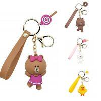 丨丨Super Cute Cartoon Bell  Keychain Different Squeaky Voice Toy Bag Pendant Gift
