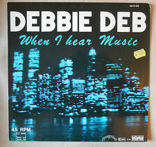 Maxi DEBBIE DEB When I hear Music sunnyview 120-21-006 Germany 1984