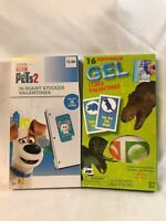 Valentines Day Cards Dinosaur & Secret Lives of Pets (2 Boxes of 16)Stickers