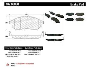 Disc Brake Pad Set-C-TEK Metallic Brake Pads Front Centric 102.08880