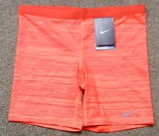 Nike sz M Women's Slam Printed Tennis Training Shorts  NEW $50 596712 824 Orange