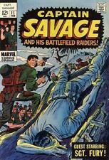CAPTAIN SAVAGE & HIS BATTLEFIELD RAIDERS #11 VG/F Marvel Comics 1969 Stock Image