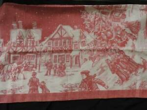 FABULOUS WILLIAMS SONOMA CHRISTMAS VILLAGE TABLECLOTH~90 X 71~MINT UNUSED