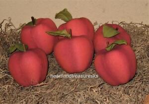 Primitive Apple Bowl Fillers ~ Ornies  Set of 6