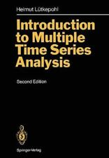 Introduction to Multiple Time Series Analysis by Helmut Lütkepohl (1993,...