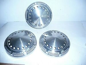 "Plymouth Dodge Chrysler 9"" Dog Dish Police Hub Caps (3)"