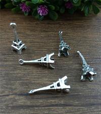 Vintage 10pcs Tibet silver Eiffel Tower Charm Pendant beaded Jewelry Findings