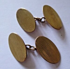 Pair of Antique 18ct Gold Front and Back Cufflinks