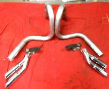 1972 72 PONTIAC GTO GT-37 LEMANS NEW EXHAUST TAILPIPES HANGERS & EXTENSIONS
