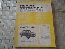 REVUE TECHNIQUE PEUGEOT 504 DIESEL à carburateur avec boite automatique