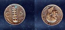 5 CENTESIMI 1930-ITALIA-RARA MONETA DA ORIGINALE - 0123