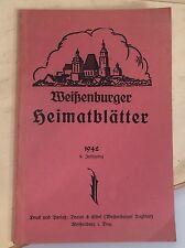 WEIßENBURGER HEIMATBLÄTTER 1942 DRUCK & VERLAG BRAUN & ELBEL WEIßENBURG