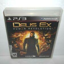 Deus Ex: Human Revolution (Sony PlayStation 3, 2011) Complete