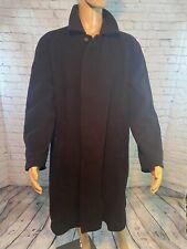 BURBERRY Men's Wool Coat Size 50R Black EC Super Fantastic Deal!!!✨