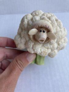 2004 Enesco Home Grown Cauliflower Sheep Figurine 4002355 Retired Collectible