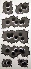 7 Rapid Fire Bullethole Bullet Hole Vinyl Sticker Graphic Decal Car 25 holes