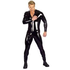 Herren Body Männerbody Lack Leder Catsuit Imitat PVC Overall Clubwear Gr. S-4XL
