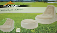 FUN CAMP Aufblasbares Loungeset Camping Sessel+Hocker 1,9kg max.100kg NEU
