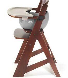Keekaroo® Height Right High Chair Mahogany with Infant Insert and Tray