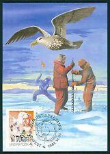 HUNGARY MK ANTARCTIC AMUNDSEN BIRD SLED DOGS CARTE MAXIMUM CARD MC CM br80