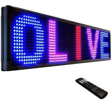 Olive Led Sign 3color Rbp P26 19x52 Ir Programmable Scrolling Outdoor Messag