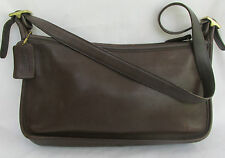 Authentic Vintage Dark Brown Leather COACH Shoulder Handbag #9071