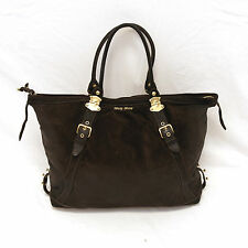 EUC MIU MIU by Prada Bag/Purse | Brown Suede w/Gold Detail