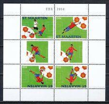 SINT MAARTEN 2014 - FIFA VOETBAL BLOK POSTFRIS                              Hk62