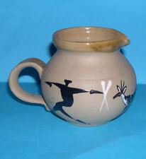 Quality Studio Pottery - Attractive Multi Spot Glaze On A Natural Finish Jug.