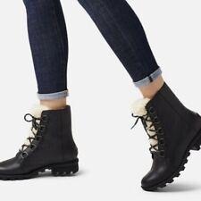 NEW Sorel Women's Phoenix Short Lace Cozy Boot ANKLE BOOTIE Black- Size 5 M NIB