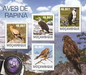 BIRDS OF PREY Aves de Rapina/Raptors Mint MNH Stamp Sheet M/S (2014 Mozambique)