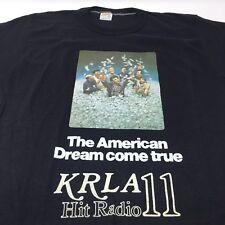 Vintage 1970s The Brink's Job Movie Promo KRLA 11 Radio Station T Shirt L Vtg