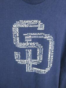 San Diego Baseball MLB Mens T Shirt Size XL NFL Team Apparel Crew Neck 2013
