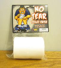 1 ROLL OF NO TEAR TOILET PAPER FAKE GAG GIFT PRANK JOKE